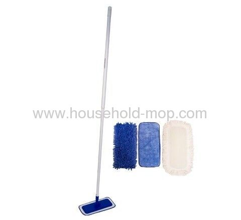 "4 12"" mop pads and a telescopic pole"