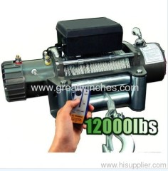 Truck Electric Winch With 12000lb Pulling Capacity