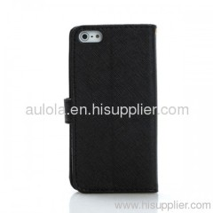 Protective PU Leather Case with Card Slots for Iphone5