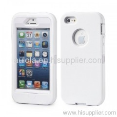 New style Mobile phone Silica gel + PC case for iPhone 5