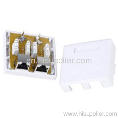 cat.6 RJ45 STP Surface mount box