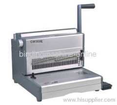 35 Sheet Punch Heavy Duty Electric Wire Binding Machine