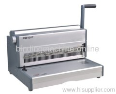 electric wire binding machine for document