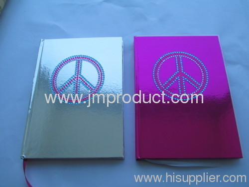 laser hardcover notebook with peace designs