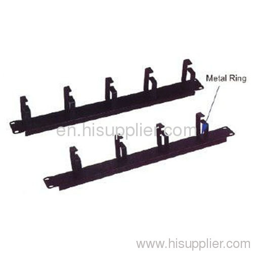 19 inch 1RU metal Cable guider with 5 or 4 Rings