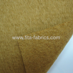 Fleece of knitted fabric blended of cotton and wool