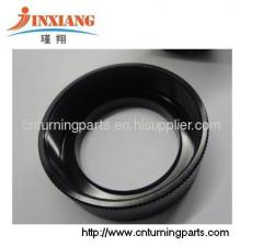 black oxide Aluminum Al6061 parts Knurling