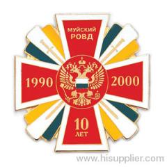 hard enamel lapel pin badge