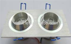 Led Ceiling Lamp 1Wx2 oxeye Square two in one Led Downlights