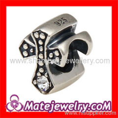 silver celtic cross bead charm