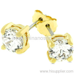 Newest lovely Gold jewellery earrings with CZ
