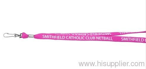 polyester lanyards with pink