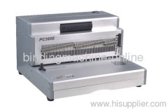 Selectable Punch Pins Electric Coil binding machine