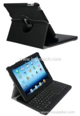 Bluetooth keyboard with leather case for new Ipad/Ipad2