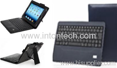 Bluetooth keyboard with leather case for the new Ipad/Ipad2