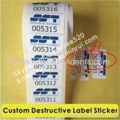 White Breakable Vinyl Paper Stickers,Tamper Proof Eggshell Labels,Custom Label Sticker Do Not Tamper