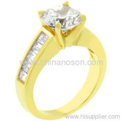 18k oro fasciame rame moda bijoux anello