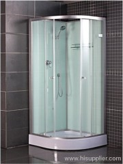 Commodity shelf shower cabin