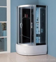 computer panel with shower room