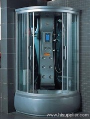 top light with luxury shower cabins