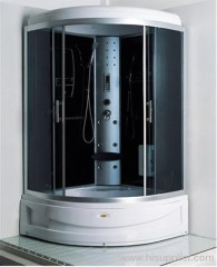 aluminium back panel with shower cabins