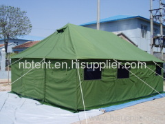 green military canvas tents