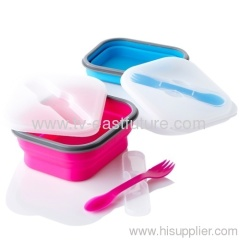 Mini Silicone Collapsible Lunch Box