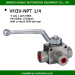 hydraulic threaded ball valve high pressure three-way ball valve WOG7250