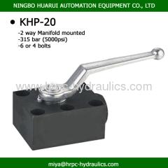 high pressure manifold valve