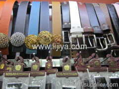 embossed leather name belts
