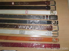 leather belts with fish