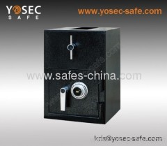 Rotary hopper depository safe