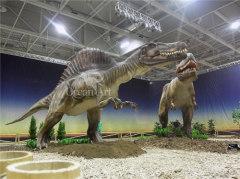 outdoor fiberglass dinosaur Spinosaurus life size animated dinosaur Spinosaurus