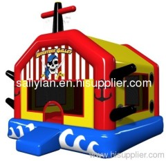 inflatable pirate jumping bouncer