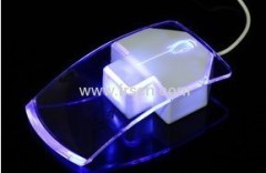 New creative wired and wiereless blue led rocket mouse