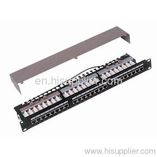 24port 1U STP Cat.5e Patch Panel