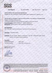 SGS Flame retardant report