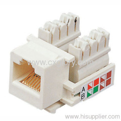 Cat.5e RJ45 Keystone Jack UTP Toolless