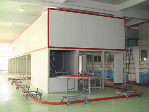 gun safe powder coating line