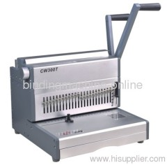 selectable punch pins wire binding machine