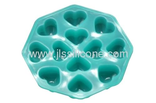 FDA/LFGB qualified ice cube trays in heart style