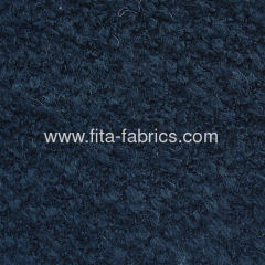 Knitted looped fabric blended of wool/acrylic/polyester