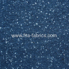 Coarse knitted fabric made like snow