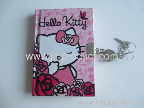 Mini notebook with lock for diary