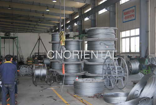 overhead power line transmission anti-twisting pilot rope