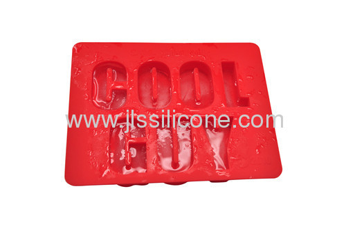 Food contact Ice cube maker in letter shape