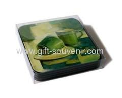souvenirs coasters 6pcs/set with PVC showing box
