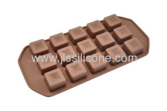 Chocolate mold or ice makers in square shape with 15 cubes