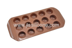 15 Cubes chocolate mold or ice makers in round shape