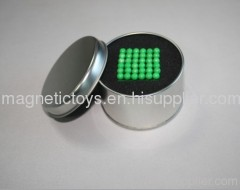 glowing N35 magnetic ball/buckyball/neocube/magnetic cube